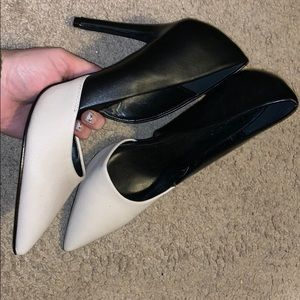NWOT Black and white heels from Charlotte Russe